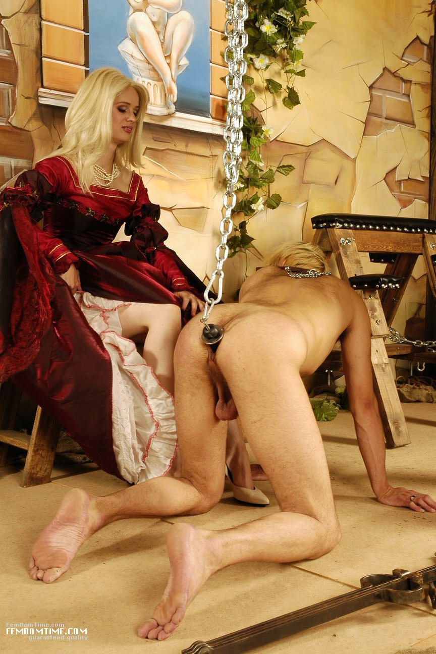Femdom with two slaves